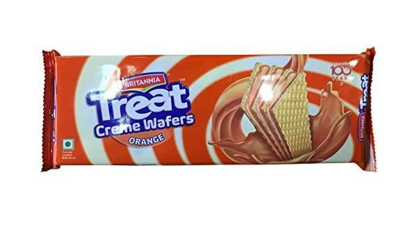 BRITANNIA TREAT CRÈME WAFER  ORANGE 75G