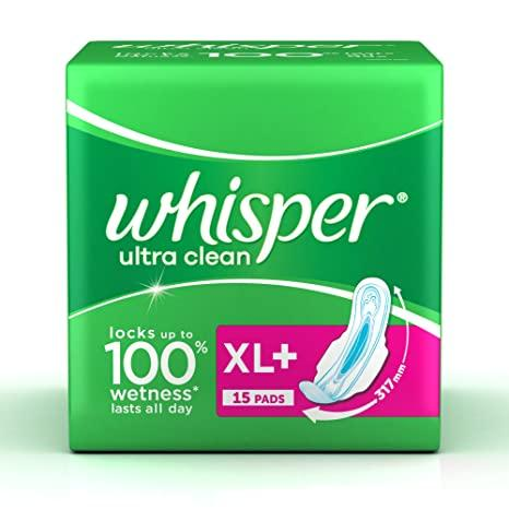WHISPER ULTRA CLEAN XL+ (15PADS)