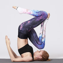 Lade das Bild in den Galerie-Viewer, Blaues Universum Leggings mit langen Beinen Leggings