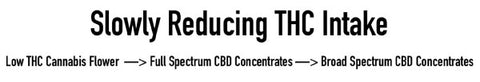 When quitting cannabis or taking tolerance breaks, a smooth transition from high THC use to no THC use can be experienced by moving from hemp flower to full spectrum cbd concentrates, and finally broad spectrum cbd concentrates.