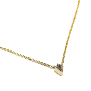 ASH: YELLOW GOLD SALT AND PEPPER DIAMOND PENDANT NECKLACE