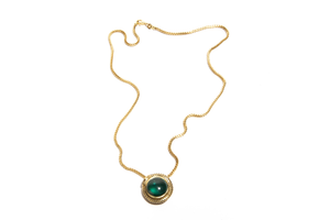 COBRA: Yellow Gold Serpent Tourmaline Pendant