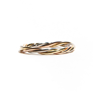 EDITH: Tri-Colour Gold Twisted Band