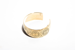 THE SOUTHERN: Yellow Gold Engraved Cuff Bracelet