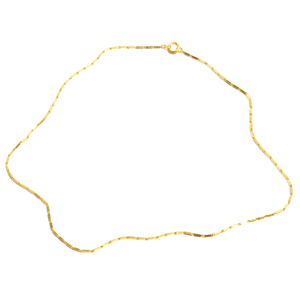 FRINGE: Vintage Yellow Gold Rectangular Bar Link Chain