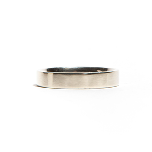 GASTOWN: White Gold Brushed Band