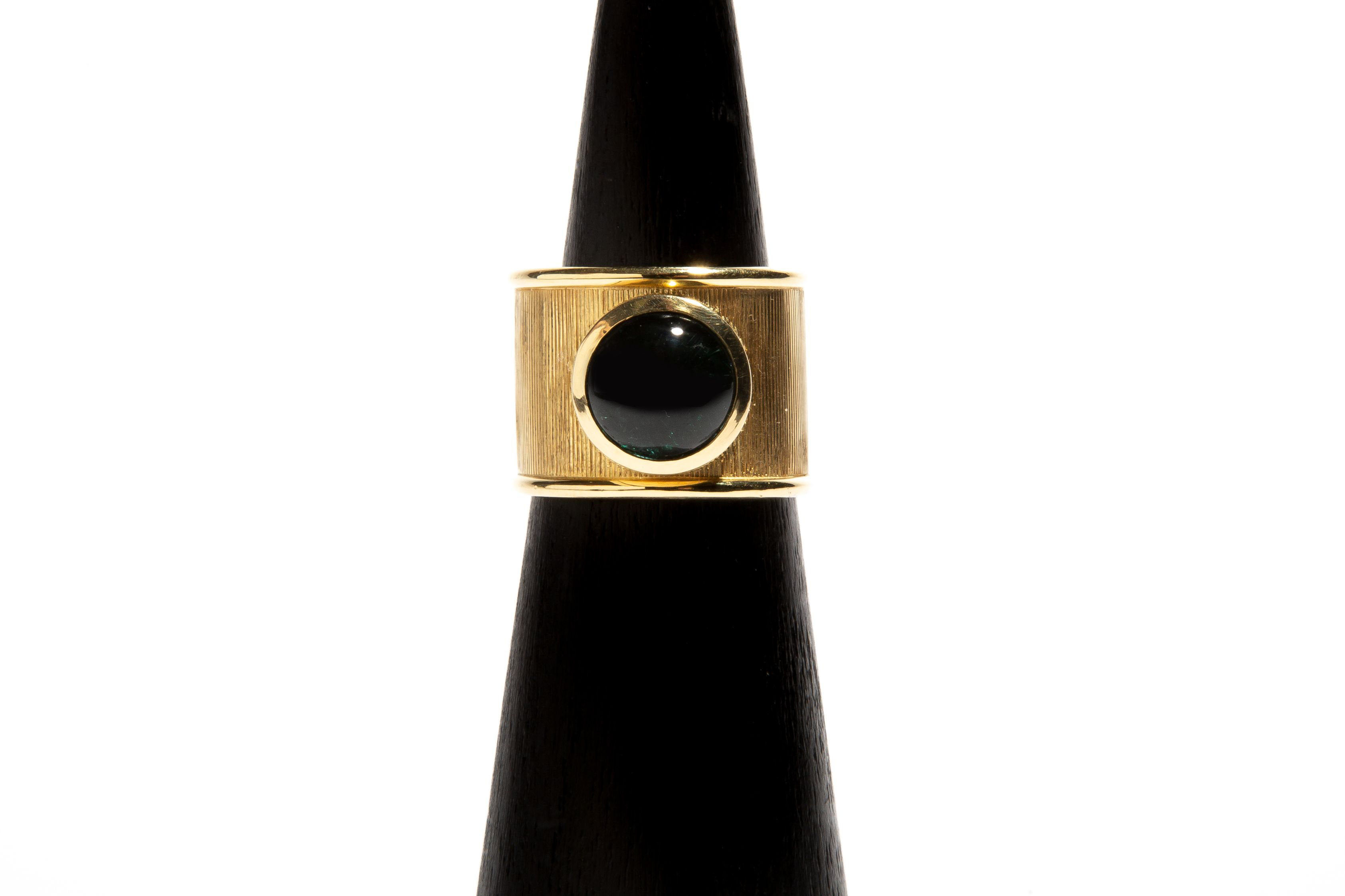 MOTHER GAIA: Yellow Gold Indicolite Tourmaline Ring