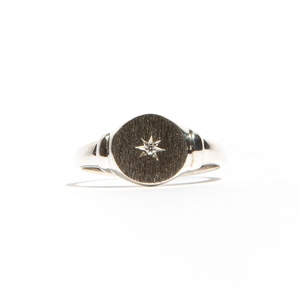 NORTH: Sterling Silver Star Diamond Ring