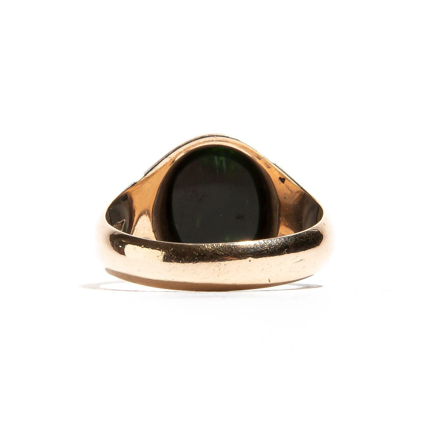 REGAL: Vintage Rose Gold Signet Lapis Ring