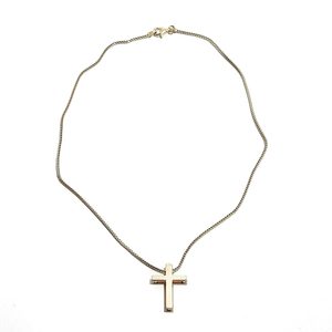 CROSS: Yellow Gold Cross Pendant