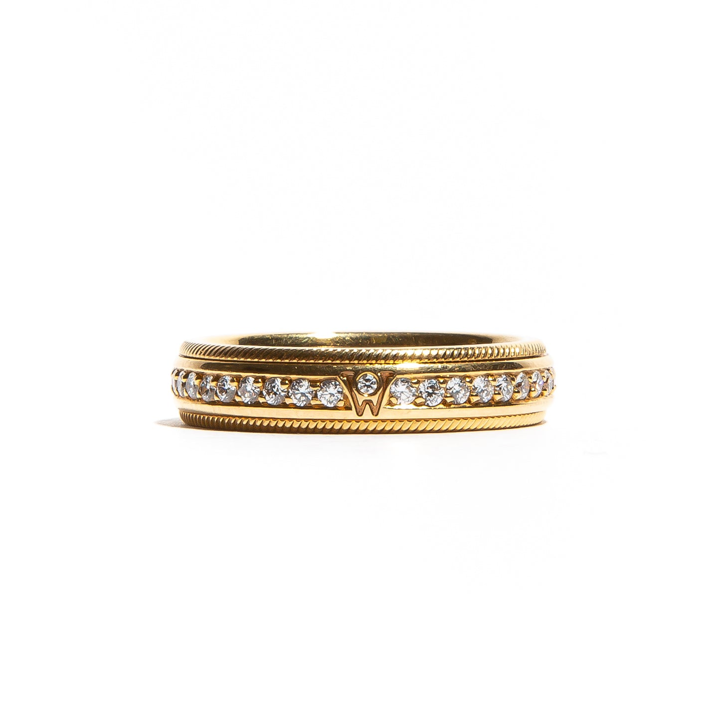 WELLENDORFF JULIET: Yellow Gold Diamond Spinning Band