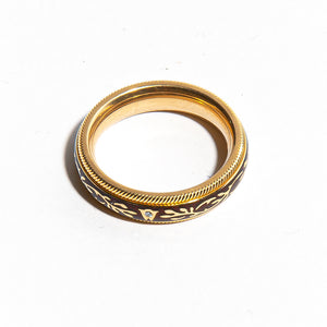 WELLENDORFF HIBISCUS: Yellow Gold Spinning Ring