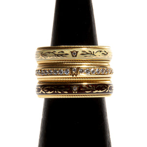 WELLENDORFF TRUFFLE: Yellow Gold Spinning Ring