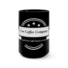 Load image into Gallery viewer, Coe Coffee Co. Black Mug 15oz
