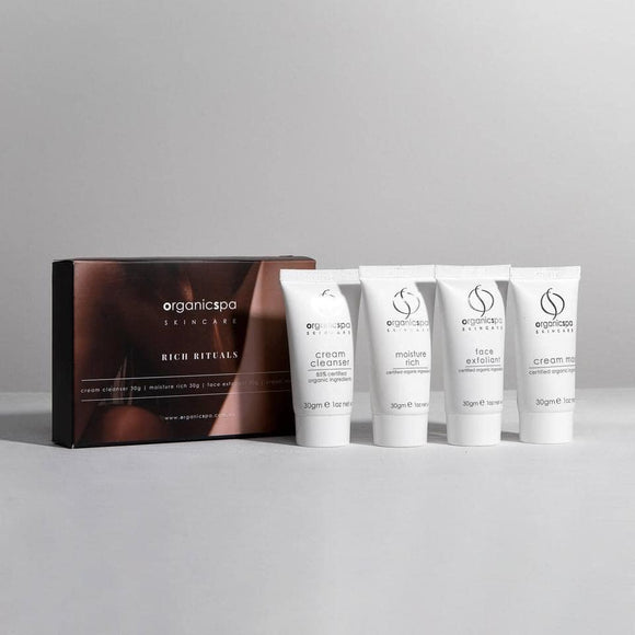 Gift Pack Rich Rituals – Cream Cleanser, Face Exfoliant, Cream Mask, Moisture Rich 4 x 30gm Tubes