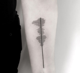 soundwave forearm tattoo design