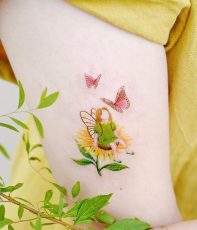 The Flower Fairy Tattoo