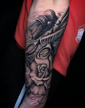 barber tattoo