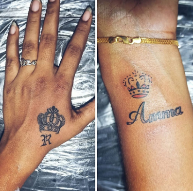 Cute Names With Crown Tattoo Designs