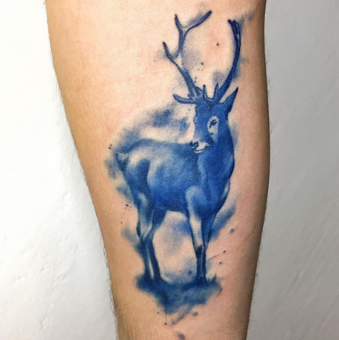 tattoo of deer