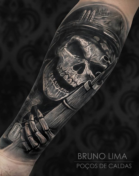 dark skull tattoo