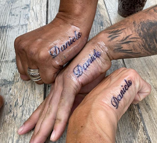 family name tattoo for men and women