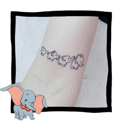 elephant family tattoo for women or man