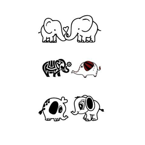 Cute Cartoon Elephant Couples