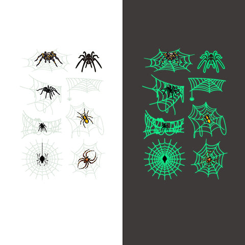Luminous spider Temporary Tattoo Sticker-10 Glow in the dark Glow in the dark