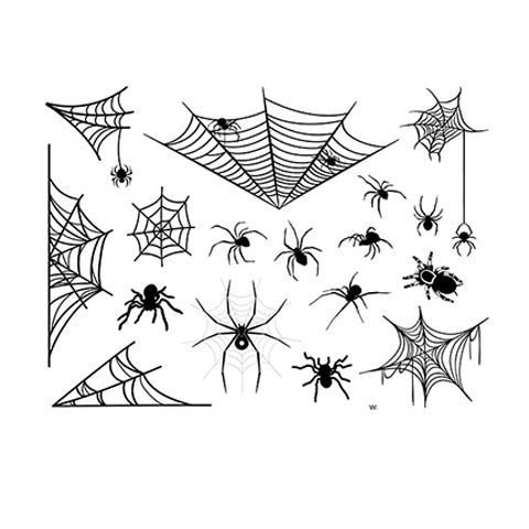 spirit halloween spider temporary tattoos serise-11