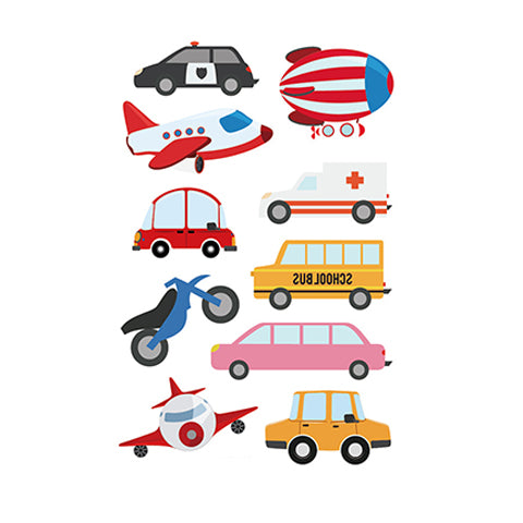 Cartoon Series Vehicle Tattoo for Kids