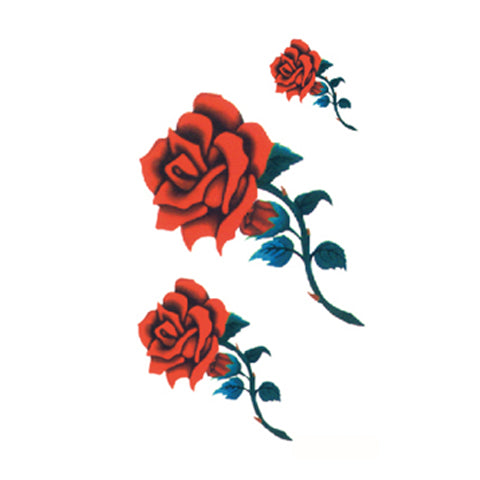 Red Rose Tattoo Stickers