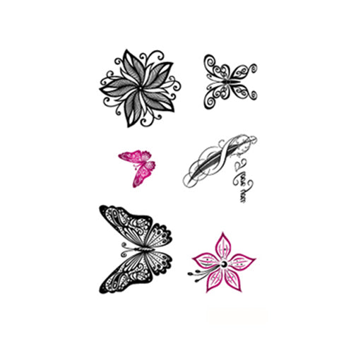Butterfly and Floral Stickers