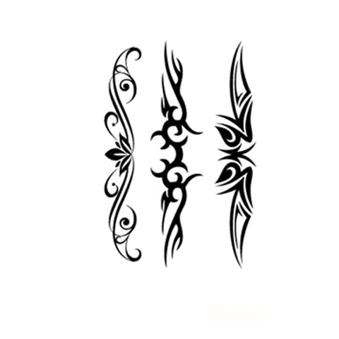 Symmetrical Floral Tattoo Stickers
