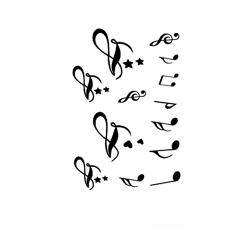 Musical Note Tattoo Stickers