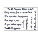 The 10 Happiest Things in Life (Semi-Permanent)
