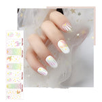 White Seashell Mermaid Nail Wraps