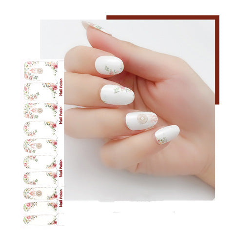 White Floral Wedding Nail Wraps