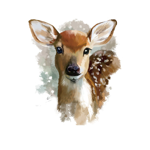 Watercolor Deer Portrait