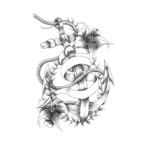 Floral Beribboned Anchor