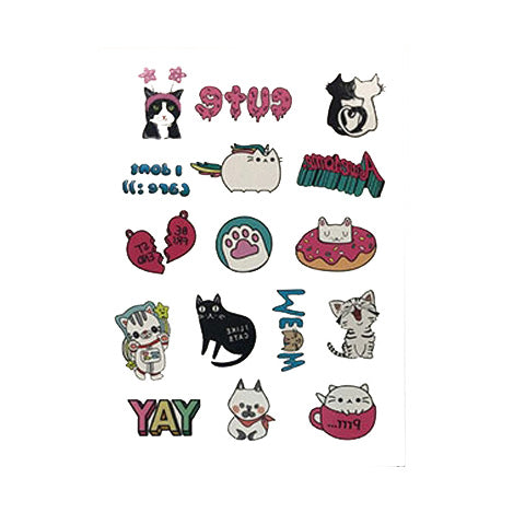 Cartoon Cats Tattoo Stickers for Girls