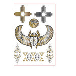 Metallic Cross Tattoo Sticker