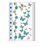 Metallic Butterfly Tattoo Sticker