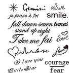 Handwritten Words Tattoo Stickers