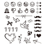 Small Icon Emoji Tattoo Stickers