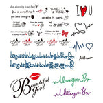 Colored Handwritten Tattoo Stickers