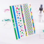Metallic Stars Stripe Tattoo Sticker