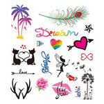 Colored Cute Tattoo Stickers for Girls