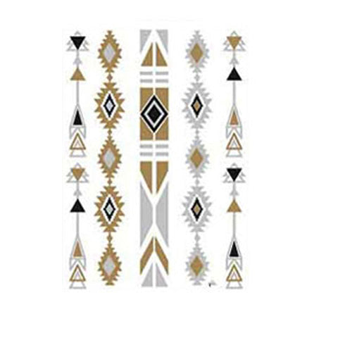Metallic Geometric Stripe Tattoo Sticker
