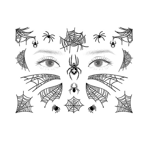 spirit halloween spider temporary tattoos serise-1